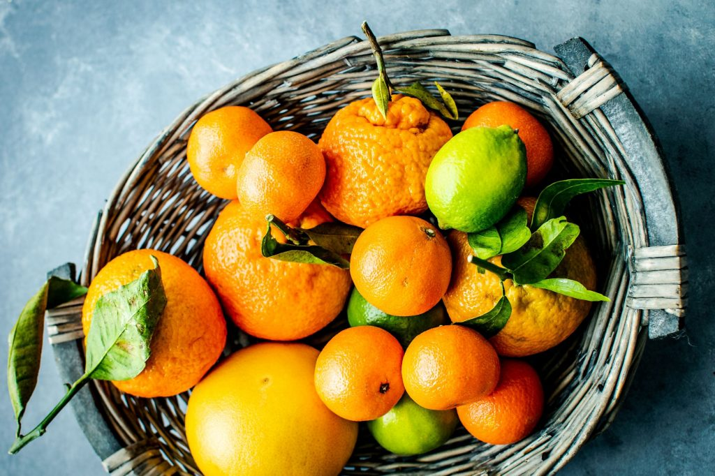 Mixed Citrus in a Basket