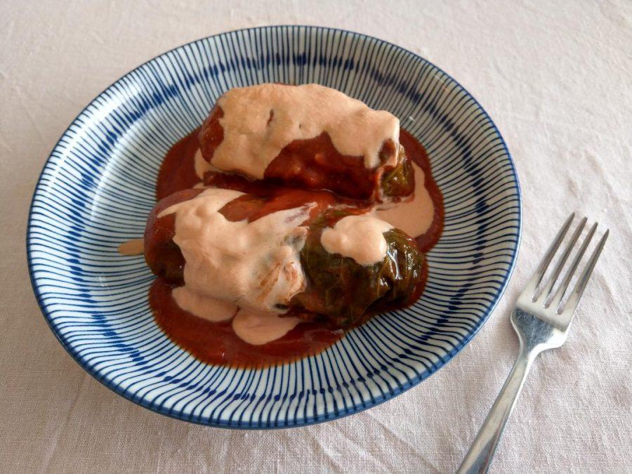 Vegetarian Mushroom Golabki (Polish Cabbage Rolls)