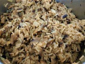 Mushroom Rice Mix for Cabbage Rolls