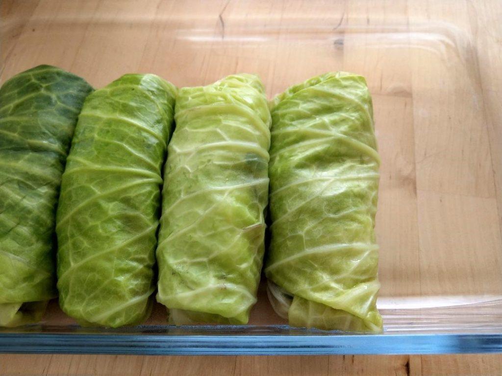 Rolled Golabki - Mushroom Cabbage Rolls