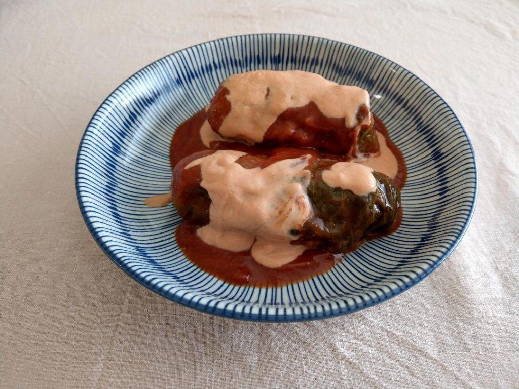 Vegetarian Mushroom Polish Cabbage Rolls