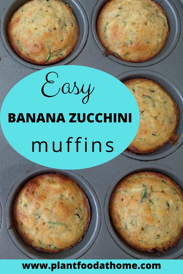 Easy Banana Zucchini Muffins