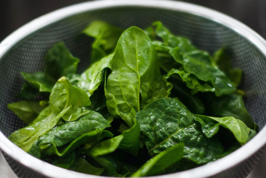 Leafy Green Vegetables for Almond Pesto Recipe