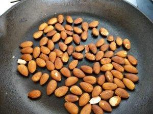 Roasting Almonds for Pesto