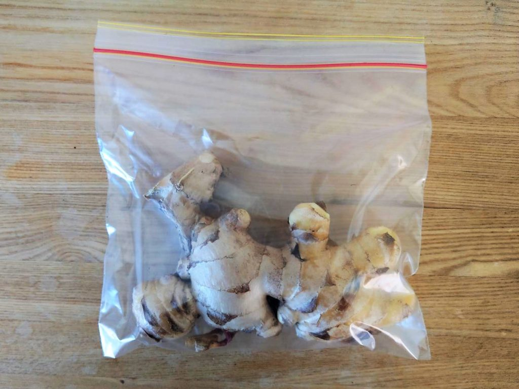 How To Grow Ginger - Freezing Ginger