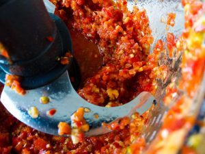 Food Processing Ingredients for Tomato Chili Ginger Jam Recipe