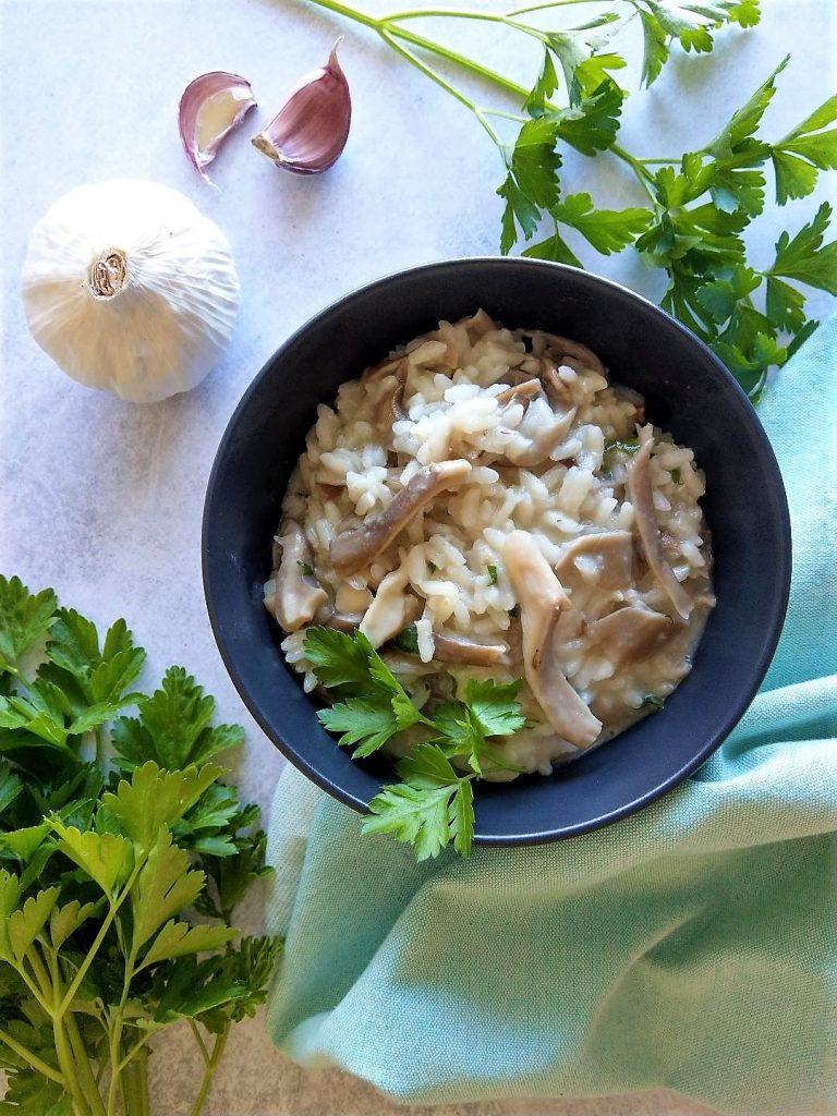 Easy Oyster Mushroom Risotto Recipe