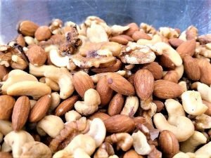 Combining the Nuts - Sweet Salty Spicy Nuts Recipe