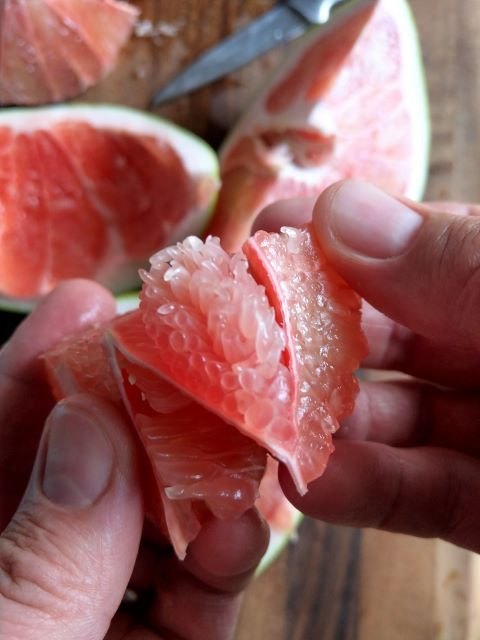 Inside a Pomelo fruit - What is Pomelo and How To Eat One