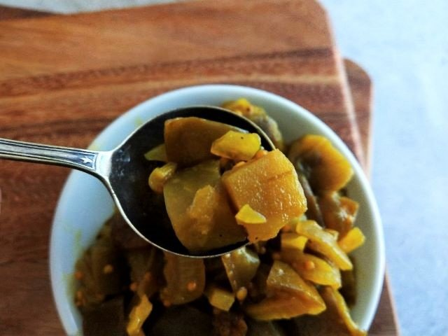 Easy Eggplant Chutney Recipe - Close Up