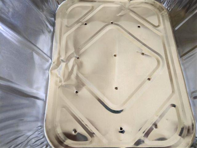 Using a Foil Pan to Grow Sweet Potato Slips