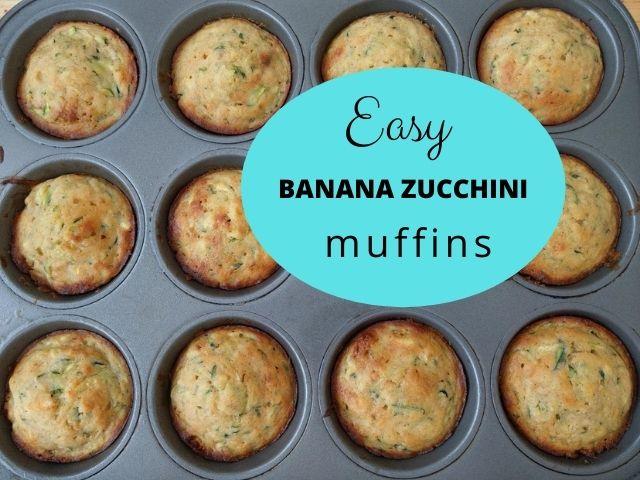 Recipe for Easy Banana Zucchini Muffins