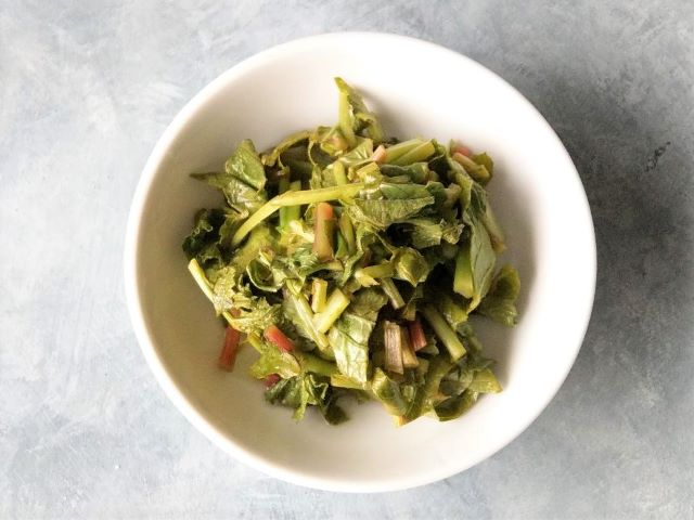 Quick Pickled Radish Greens Recipe