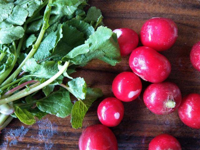 Radishes and Radish Leaves - How to Make Pickled Radish Greens
