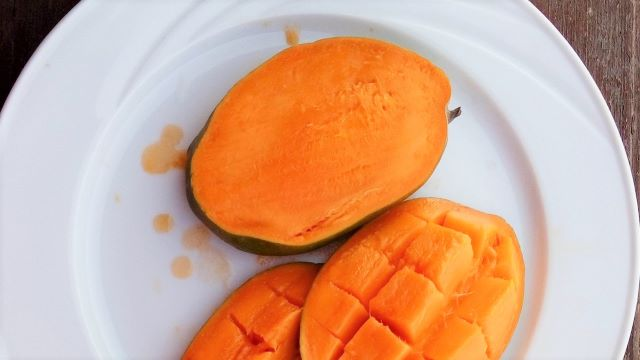 How To Grow A Mango From Seed and by Grafting - cutting up the mango