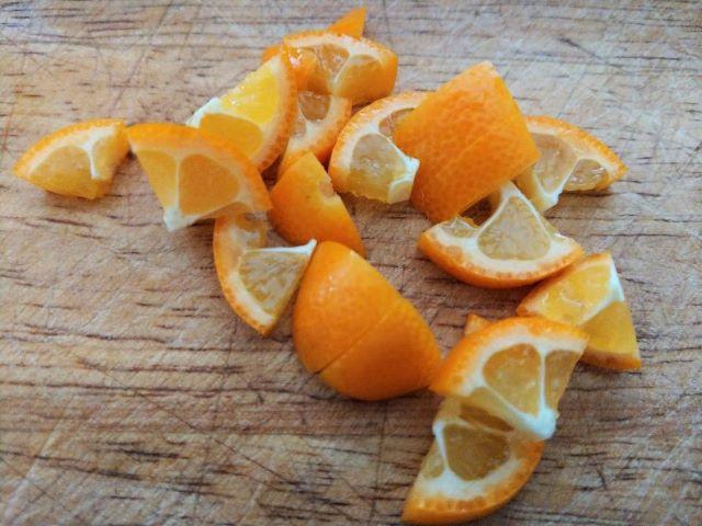 Kumquat and Star Anise Jam Recipe - Chopped Kumquats